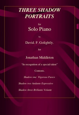 979-0708056 46 1 Piano Solo Three Shadow Portraits includes Cd