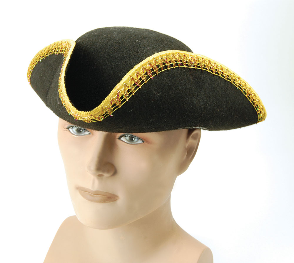 sc 1 st  Harlequin Fancy Dress & Tricorn Hat | Hats | Harlequin Fancy Dress