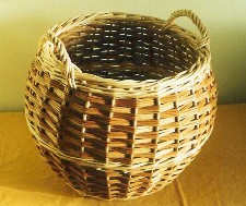 barrel log basket slewing weave