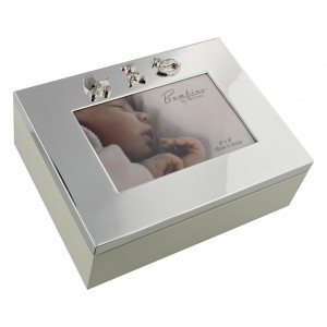BABY SCAN DIAMANTE PHOTO FRAME IN SATIN LINED GIFT BOX IDEAL GIFT CG548