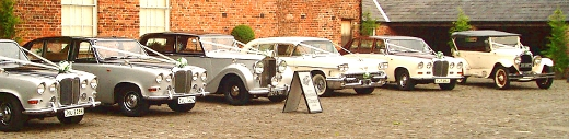Rolls Bentley Chrysler Cadillac Daimler Meols Hall vintage wedding cars southport liverpool preston merseyside lancashire
