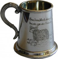 1/4pt Baa Baa Black Sheep Tankard