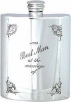 6oz Best Man At Marriage Flask (e)