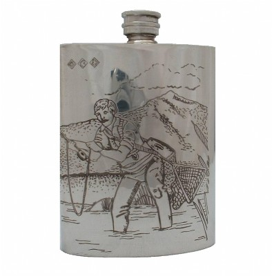 865 6 FL OZ HIP FLASK FISHING