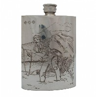 6 Fl Oz Hip Flask Fishing