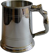1pt Straight Pewter Tankard Nymph Handle