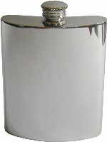 6 Oz Plain Pewter Hip Flask