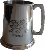 1pt Welsh Dragon Tankard