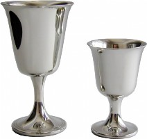 Large Pewter Bell Goblet