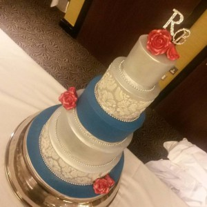 5 tier wedding cake solihull