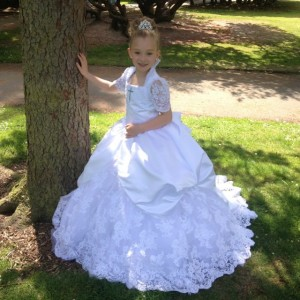 Gypsy style first communion dresses