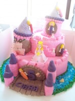 4 Tier Fairy Castle(Click Here To See More Great Castle Cakes)