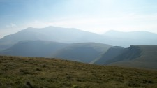 view from top of Eilio towards Snowdon