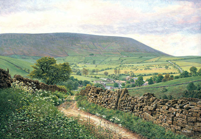 Heys Lane, Summer - Pendle Hill, Lancashire. Keith Melling
