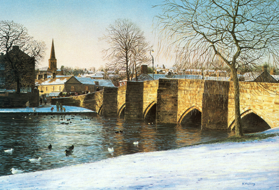 Bakewell, Derbyshire. Painting by Keith Melling
