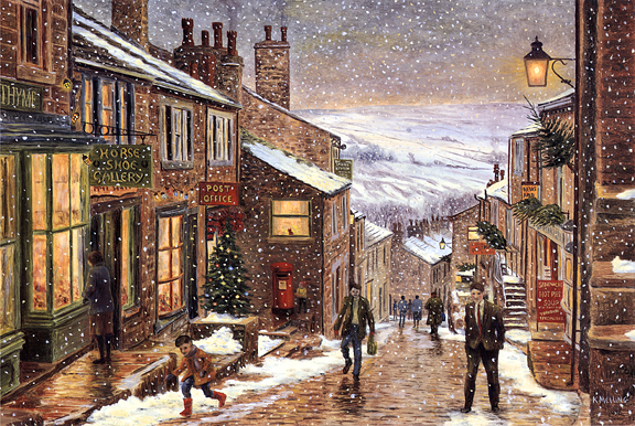A Yorkshire Christmas. Painting by Keith Melling