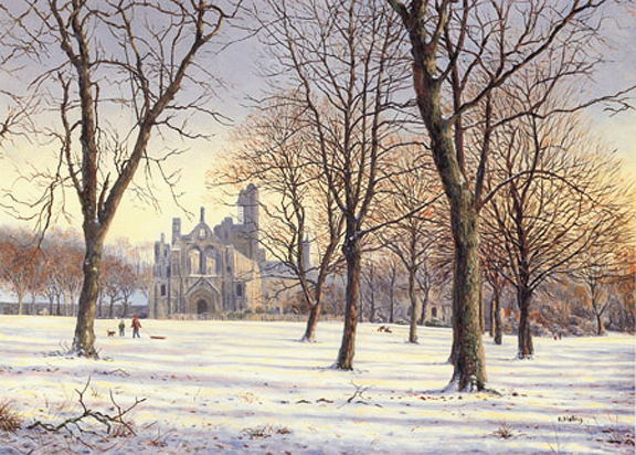 Kirkstall Abbey  -  Yorkshire. painting by Keith Melling