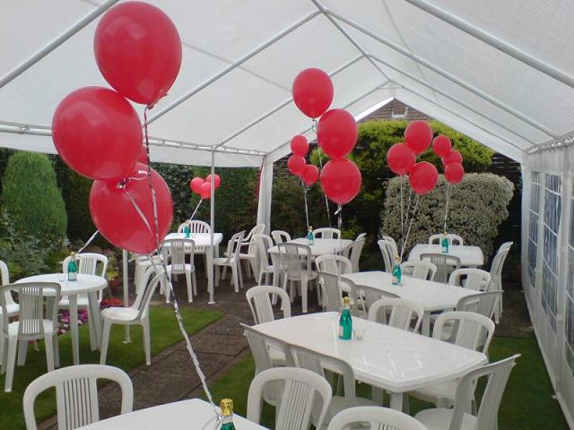 Ruby Wedding Anniversary open marquee