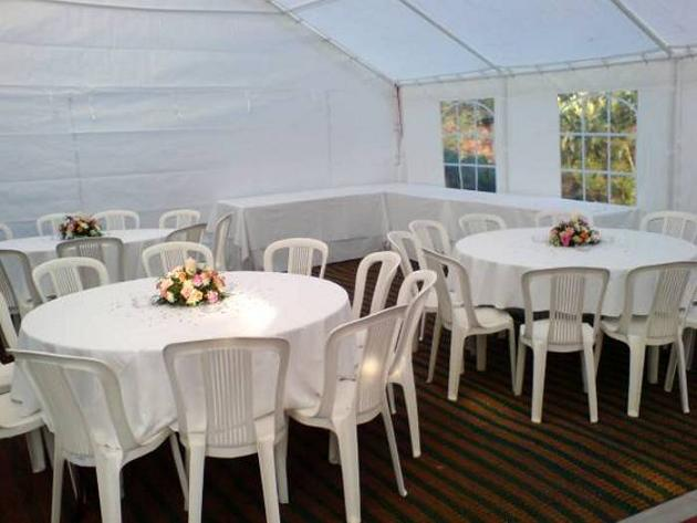 Trestle Tables for Buffet Food