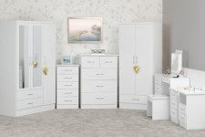 White gloss bedroom range