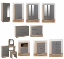 Neptune grey gloss bedroom range