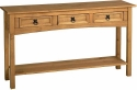 Corona Mexican Pine 3 drawer console table