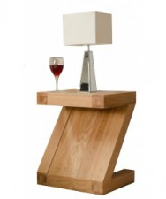 Z Designer Oak Lamp Table