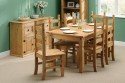 Corona Mexican Pine 6ft dining set with 6 chairs
