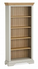 Chester grey & oak tall bookcase