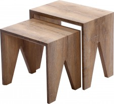 Finley oak effect nest of tables