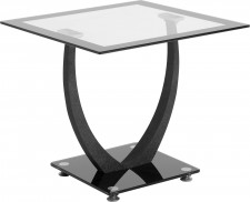Hanley black glass lamp table