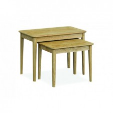 Danish oak nest of tables