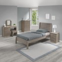 Neptune oyster gloss and oak effect single bed