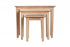 Scandinavian oak nest of 3 tables