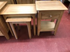 Scandinavian oak nest of 2 tables