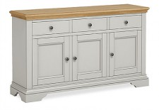 Chester grey and oak large sideboard