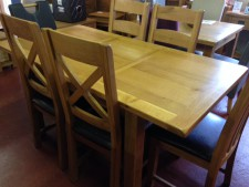 Erne Oak Small Extending 4-6 Seat Dining Table