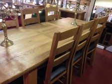 Erne Oak Large Extending 6-8 Seat Dining Table