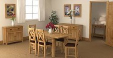 Erne lite oak compact extending dining table