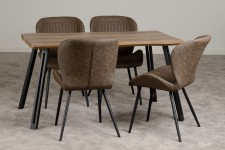 WAVE or straight edge dining table set