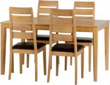 Logan oak effect small solid dining set