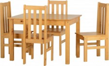 Ludlow solid wood small solid dining set
