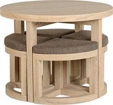 Cambourne round compact stowaway dining set