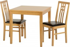 Vienna small solid compact dining set inc 2 chairs