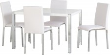 Charisma grey or white gloss small dining set