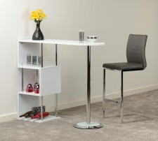 Charisma white gloss or stone grey home bar