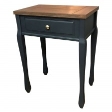 Ashton walnut and black lamp table