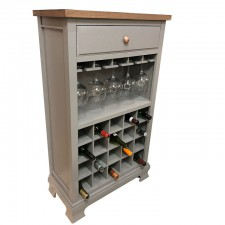 Ashton walnut and grey wine rack