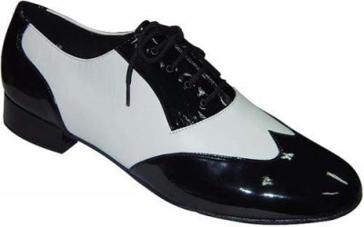 White Leather Mens Ballroom Shoes