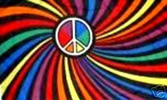 FLG5 Rainbow Peace Swirl Flag